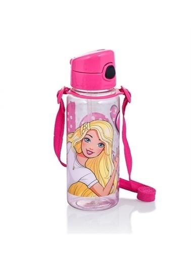 Barbie Barbie 500 ml Pembe Kız Çocuk Plastik Matara - Black&Pink Pembe